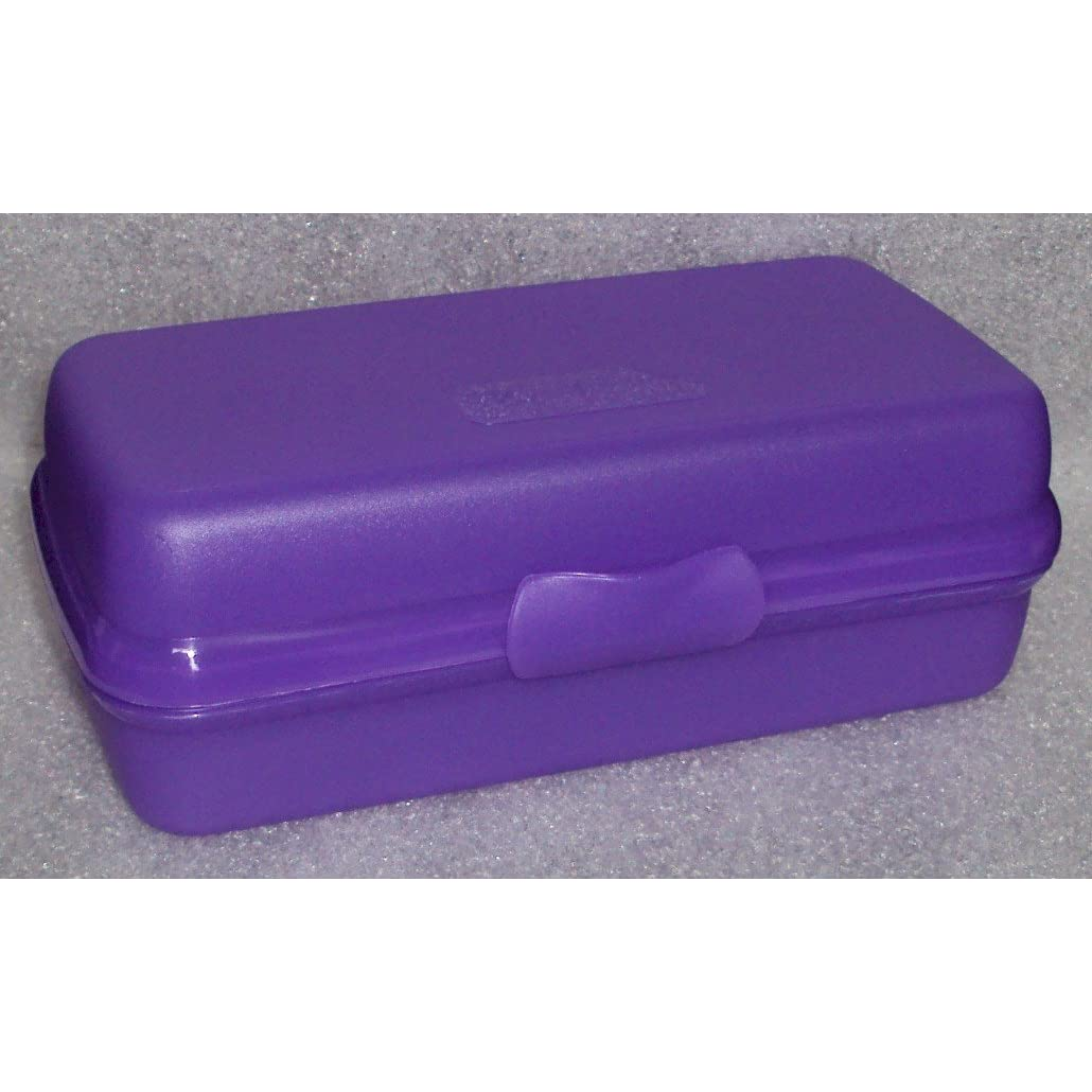 Image: Tupperware Sub Sandwich Hoagy Rectangular Sandwich Keeper, Purple - Measures approx 7 1/2 x 3 3/4 x 2 1/2