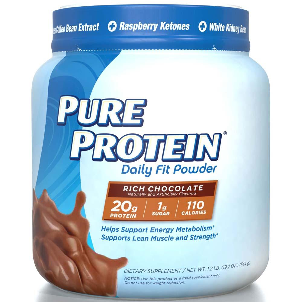 Protein Shakes Needed: Amazon.com: Pure Protein Daily Fit Powder, Rich Chocolate