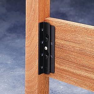Amazon Com Surface Mounted Keyhole Bed Rail Brackets 90