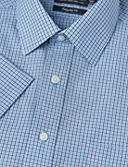 Cotton Rich Non-Iron Short Sleeve Checked Shirt