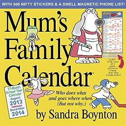 Mums Family Calendar 2014 Wall