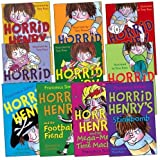 Francesca Simon Horrid Henry Pack, 10 books, RRP £49.90 (Horrid Henry;HH & Football Fiend; HH Gets Rich Quick; HH Mega-Mean Machine; HH and the Bogey Babysitter; HH and the Secret Club; HH and the Tooth Fairy; HH the Mummy's Curse; HH's Revenge; HH's St