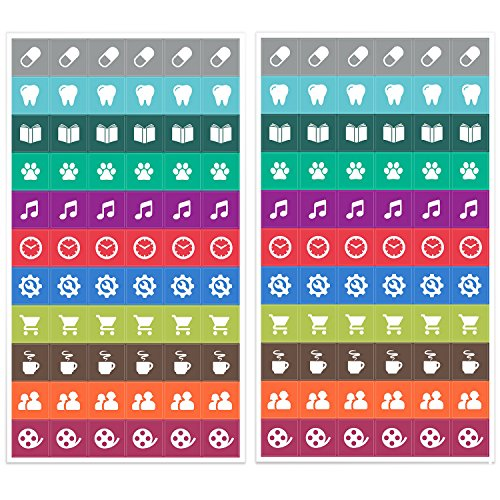 Calendar Reminder Design : Calendar reminder stickers simple icons cute designs