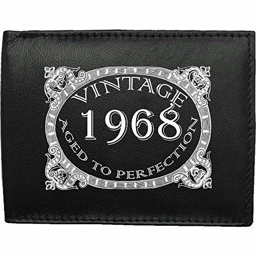1968-millsime-mri-g--la-perfection-Portefeuille-Pour-Hommes-En-Cuir-Noir-cuir-velours-image-imprime-wallet-cadeau-prsent-humour-plaisanterie-blague-plaisanterie-drle-humoristique