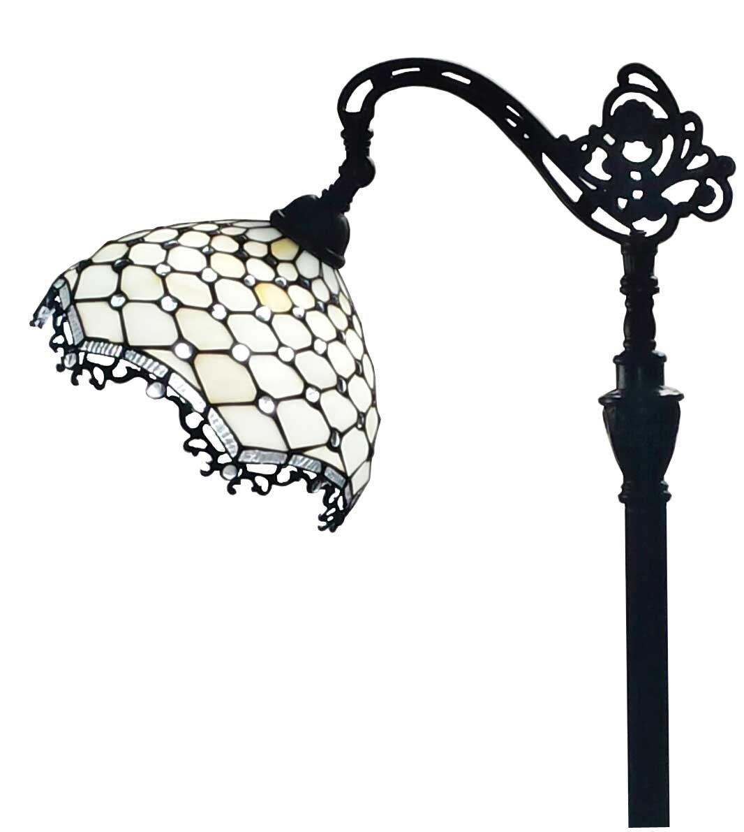 Amora Lighting AM122FL12 Jeweled Reading Floor Lamp 62 In 1