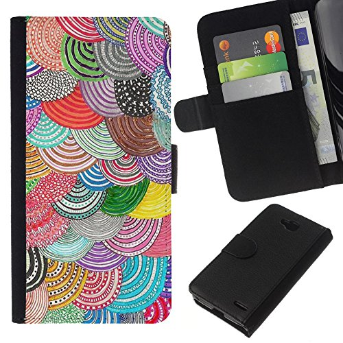 // PHONE CASE GIFT // Fashion Leather Wallet Case Stylish Credit Card & Money Pouch Protective Cover for LG OPTIMUS L90 / Pattern Crocheted Embroidery /