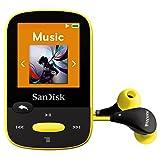 Reproductor MP3 SanDisk SDMX24-008G-G46Y con clip deportivo, 8GB, con pantalla LCD y ranura para tarjeta Micro SDHC (amarillo)