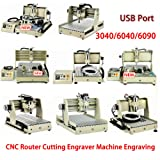 Engraver Machine TBVECHI 3/4 Axis 1.5-2 KW CNC Router Cutting Machine Engraving USB Port (1500W-6040TUSB-1+1500W-6040TUSB-2+1500W-TS002USB) (Tamaño: 1500W-6040TUSB-1+1500W-6040TUSB-2+1500W-TS002USB)