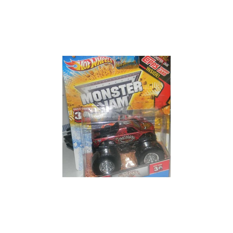 Hot Wheels Monster Jam Truck 164 El Matador with Topps Trading Card 2012