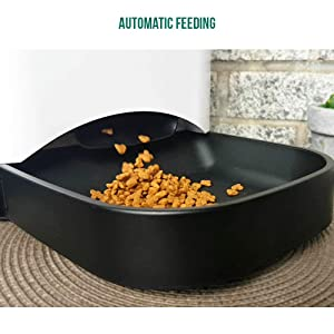 FEED'EM Automatic Smart Pet Feeder | Food Dispenser for Cat & Dog - Automatic Scheduled Feeding, Voice Greeting Recording, Battery Backup, Easy WiFi Connection, Smartphone Application iOS & Android (Color: Without Camera, Tamaño: No Camera)