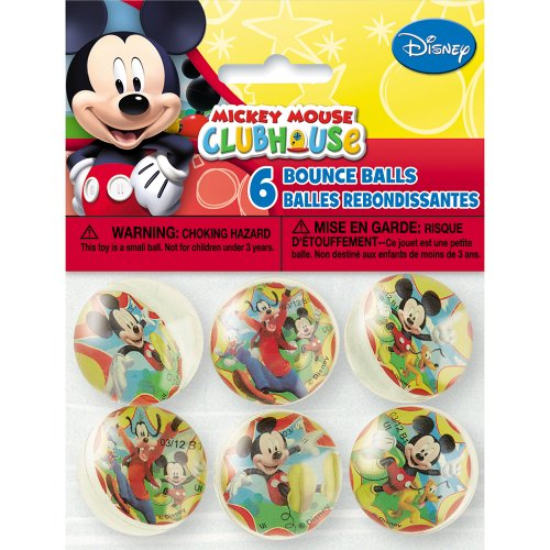Mickey Mouse Mickey Mouse Bounce Balls, 6 Count front-441179
