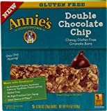 Annies Homegrown Chewy Gluten Free Granola Bars Double Chocolate Chip -- 5 Bars