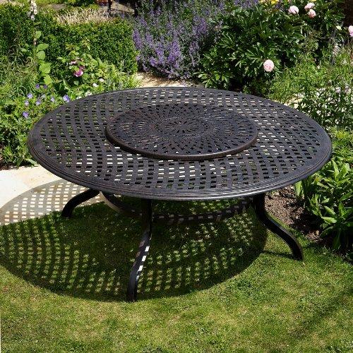 Maisie 180cm Rundes Gartenmöbelset – 1 MAISIE Tisch + 8 MARY Stühle günstig