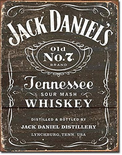 Jack Daniel's - Weathered Logo Tin Sign 13 x 16in