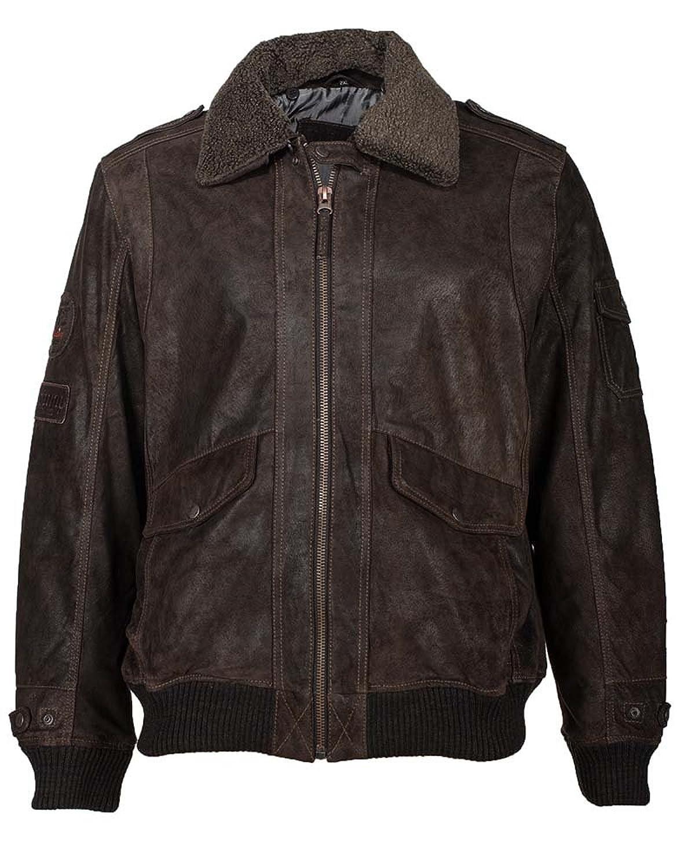 Mustang Lederblouson, Herren Pionier (brown) bestellen