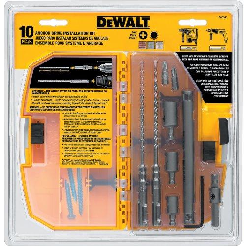 DEWALT DW5366 Anchor Drive Kit 10-Pieces