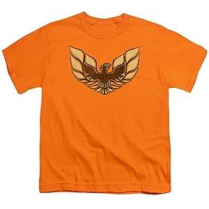 Youth: Pontiac-1975 Firebird Emblem Kids T-Shirt Size YXL