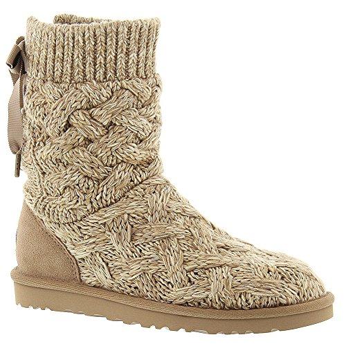 UGG Australia Womens Isla Boots in Heathered Oatmeal 5 W US