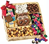 Broadway Basketeers Deluxe Chocolate and Nut Collection Gift Basket for Mothers Day