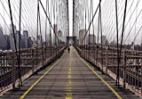 Fototapete - NEW YORK - Brooklyn Bridge Manhattan USA Amerika