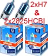 Osram NightBreaker 2xH7 & Standlichtlampen 2xW5W - 64210NBR & 2825HCBI Halogen Cool Blue & Night Breaker
