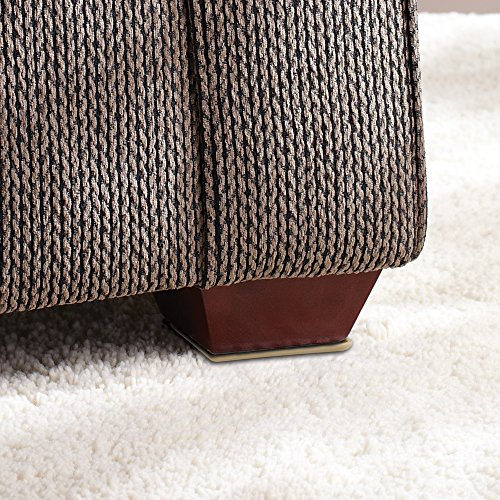self stick square heavy furniture sliders for carpeted surfaces 4 piece 2 1 2 square. Black Bedroom Furniture Sets. Home Design Ideas