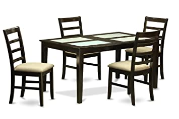 East West Furniture CAPF5G-CAP-C 5-Piece Dining Table Set