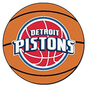 FANMATS NBA Detroit Pistons Nylon Face Basketball Rug by Fanmats