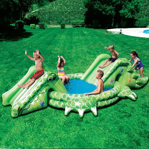 Banzai Slide 'N Splash Alligator Pool
