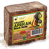 #1 Organic African Black Soap - 1lb (16oz) Best for Acne Treatment, Eczema, Dry Skin, Psoriasis, Scars, Dermatitis, White Heads Pimples, Anti-fungal Face & Body Wash, Raw Handcrafted Beauty Scrub Bar