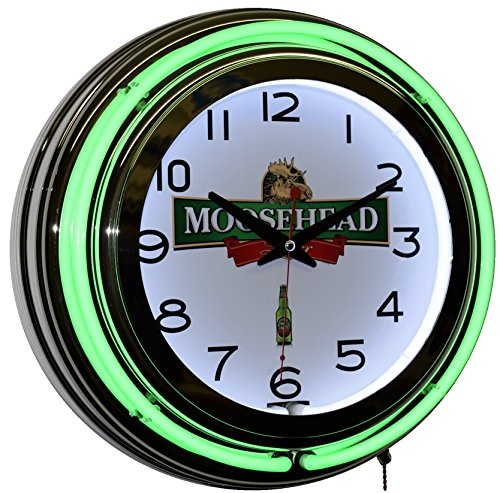 moosehead-breweries-since-1867-beer-logo-green-double-neon-wall-clock