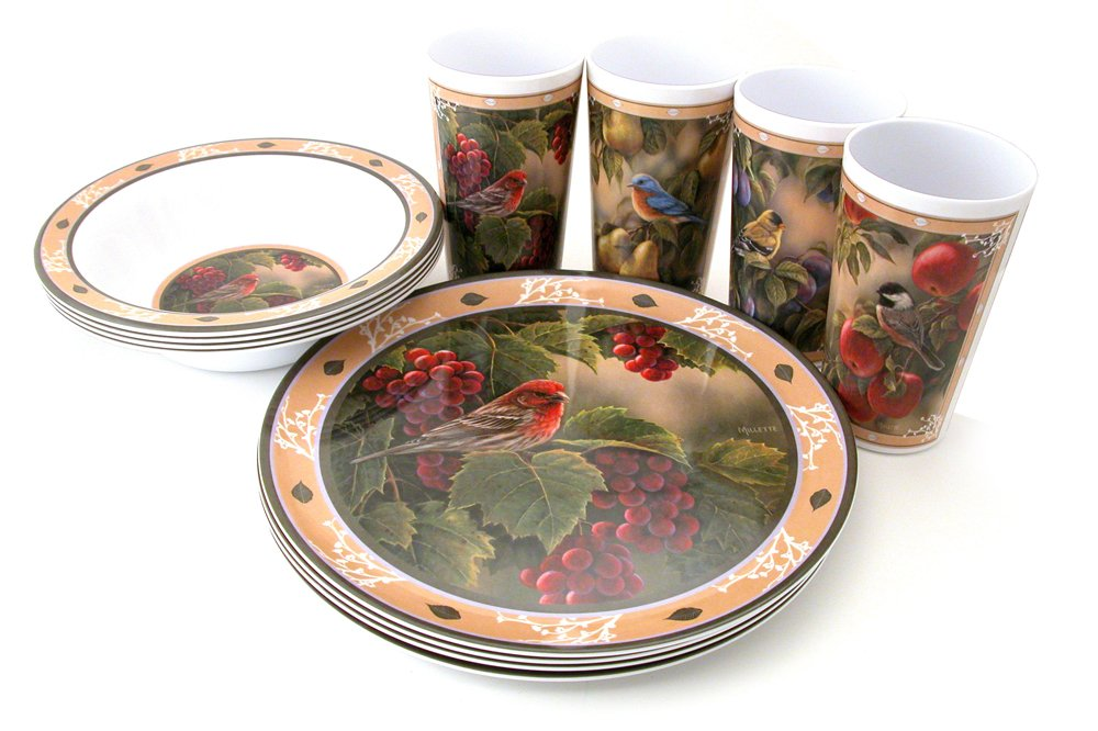 melamine bird dishes
