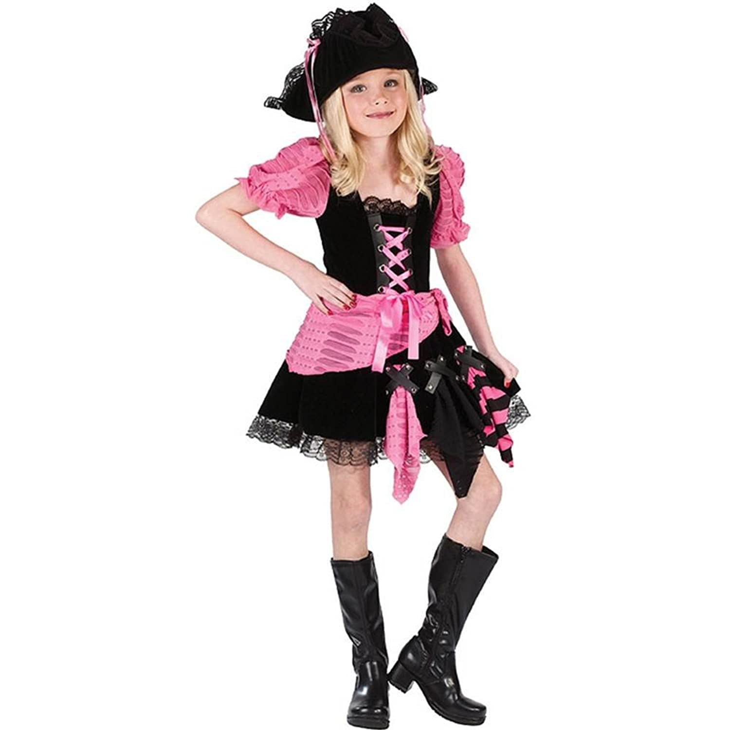 Pink Punk Pirate Costume Pink Punk Pirate Kids Costume