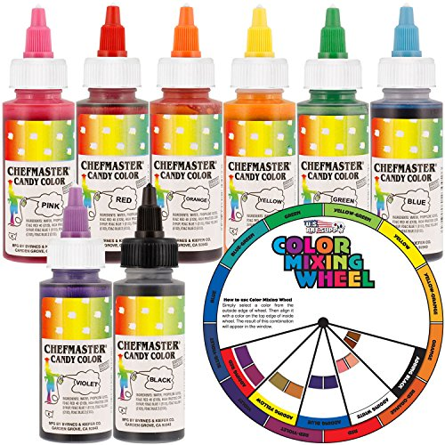 chefmaster-by-us-cake-supply-2-ounce-liquid-candy-food-color-8-bottle-kit-with-mixing-wheel