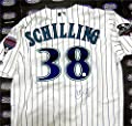 Curt Schilling autographed Jersey (Arizona Diamondbacks 2001 World Series Patch) MLB Authentication Hologram