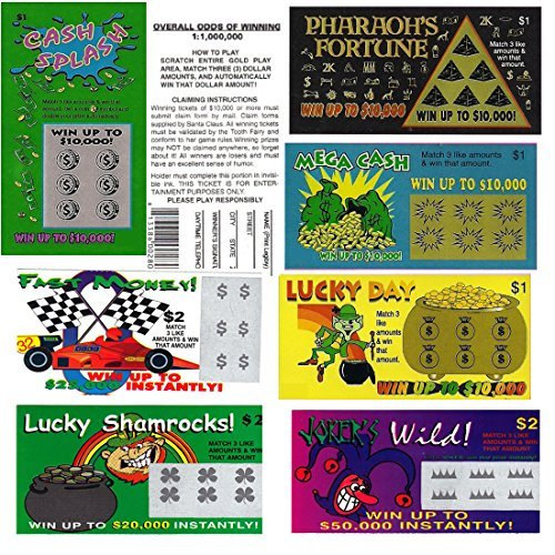 Fake Lottery Tickets (Lottery Tickets Scratch Off Real compare prices)