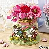 ディズニー 母の日 フラワーギフト プリザーブド&アーティフィシャル アレンジメント「ミッキーマウス & ミニーマウス フラワーショップ」 日比谷花壇