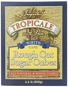 Tropicale White Cane Rough Cut Sugar Cubes, 1.1 Pound Box