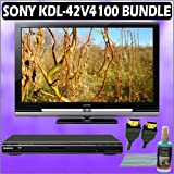 Sony Bravia V-Series KDL-42V4100 42in. 1080P LCD HDTV + Sony DVD Player Accessory Kit