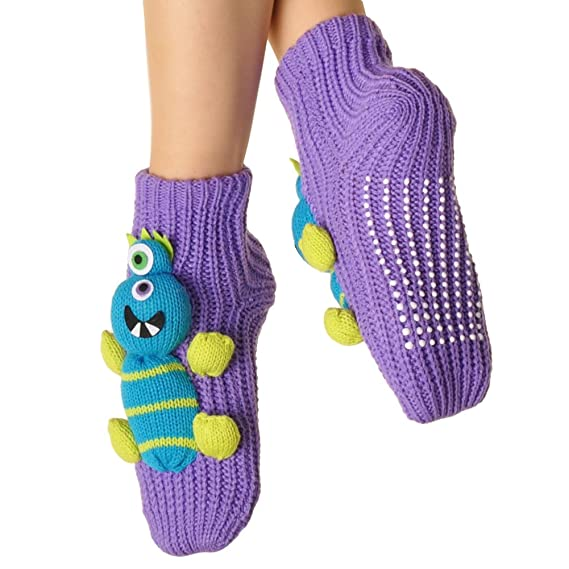 Angelina 3D Animal Winter Knit Socks with Non-skid Bottom