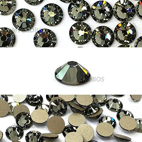 BLACK DIAMOND (215) Swarovski NEW 2088 XIRIUS Rose 34ss 7mm flatback No-Hotfix rhinestones ss34 18 pcs (1/8 gross) *FREE Shipping from Mychobos (Crystal-Wholesale)*