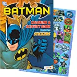 DC Comics BATMAN Coloring & Activity Book with Stickers (144 Pages)