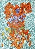 Exotic India Bhagawan Krishna - Kerala Mural