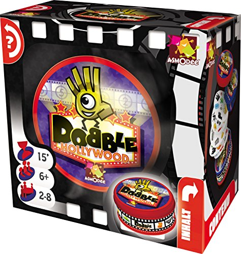 Asmodee 002816 - Dobble Hollywood, Kartenspiel