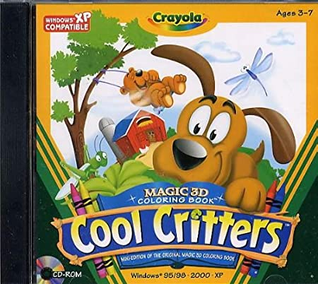Crayola Magic 3-D Coloring Book Cool Critters Ages 3-7
