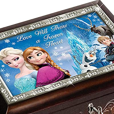 "Brown Or Blue Disney FROZEN Music Box Plays the Melody of ""Let It Go"" by The Bradford Exchange"