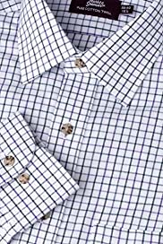 Pure Cotton Checked Twill Shirt [T11-1994-S]