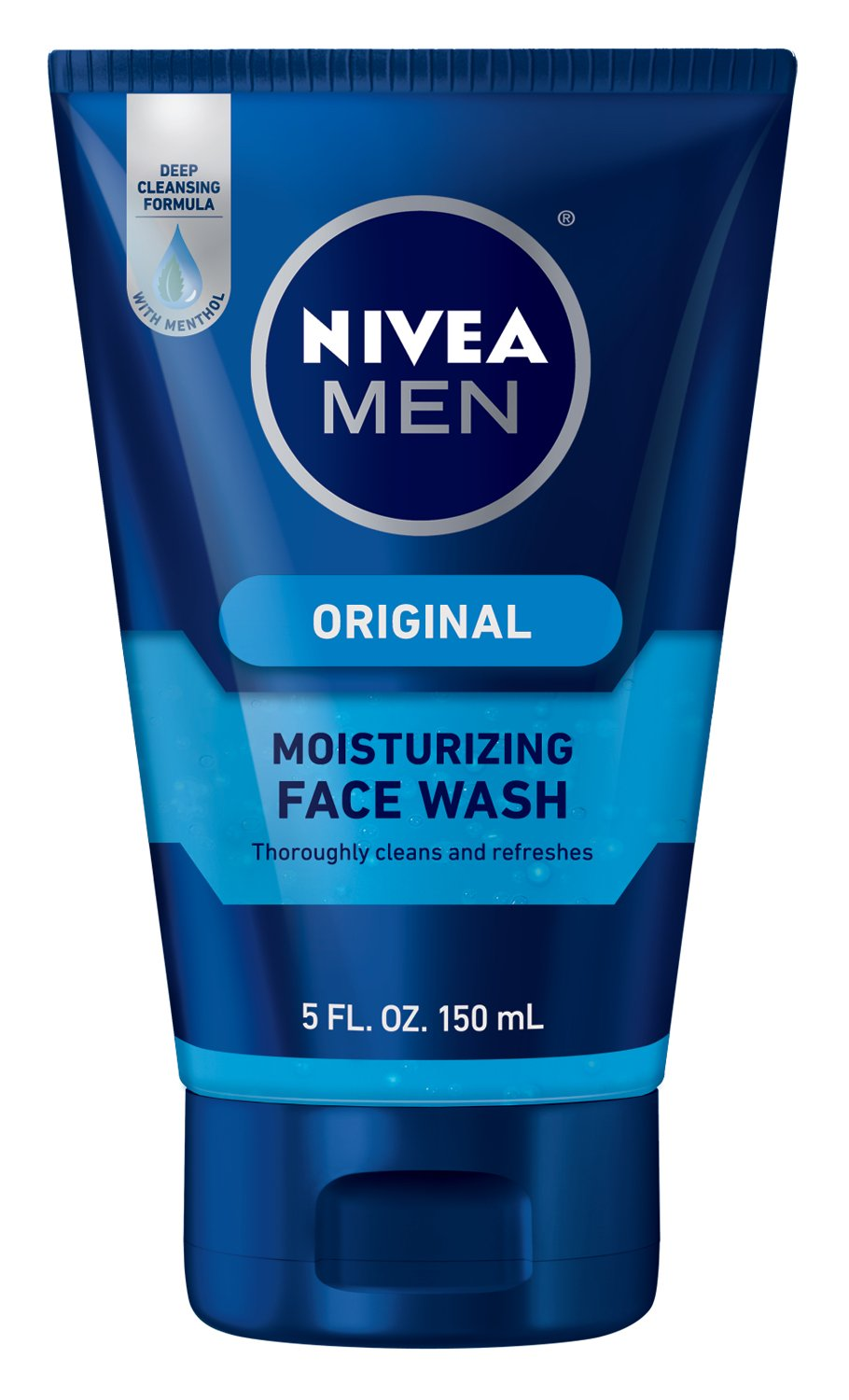 NIVEA MEN Original Moisturizing Cleansing Face Wash, 5 oz Tube