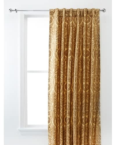 Silk Dupioni Gold Print Lined Panel