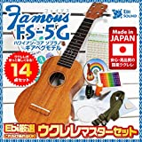 Famous フェイマス FS-5G ウクレレ 入門マスターセット 14点